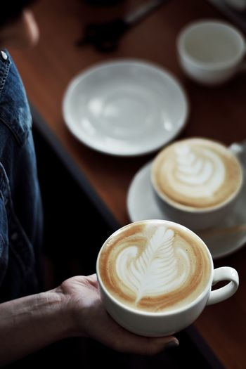 Photo Photooftheday Photography Coffee Coffee - Drink Coffee Cup Cappuccino Drink Latte Froth Art Food And Drink Human Hand Cafe