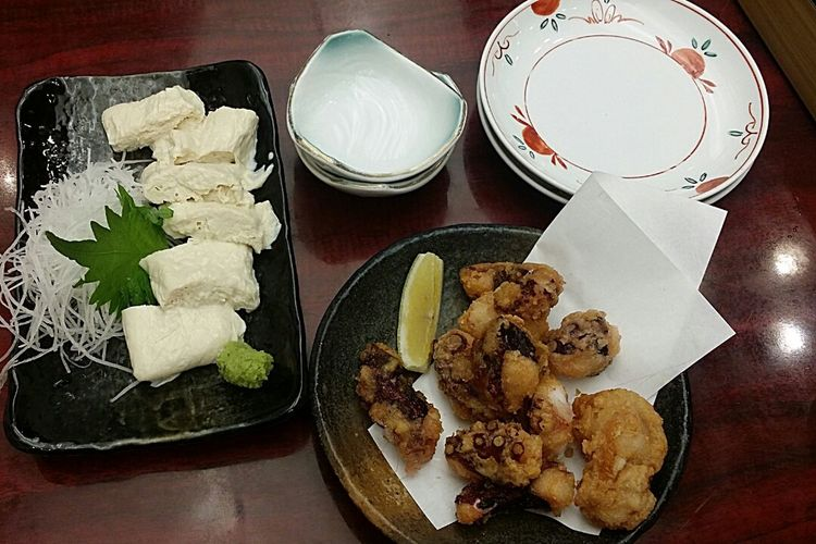 Tako ( Octopus ) Yuba ( Beancurd Skin ) Foodphotography Narita Airport Tokyo Tokyo, Japan Japannov2016 TokyoNov2016