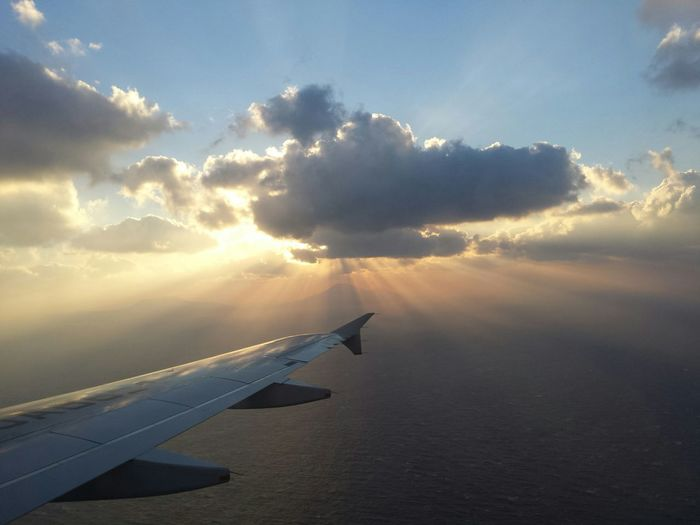 From An Airplane Window 八丈島空港羽田空港