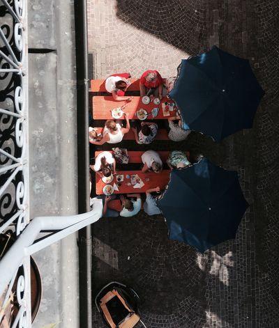 The Week On EyeEm Mix Yourself A Good Time Birdeyeview Topdown Umbrella Sun Party Summer Biberach An Der Riß