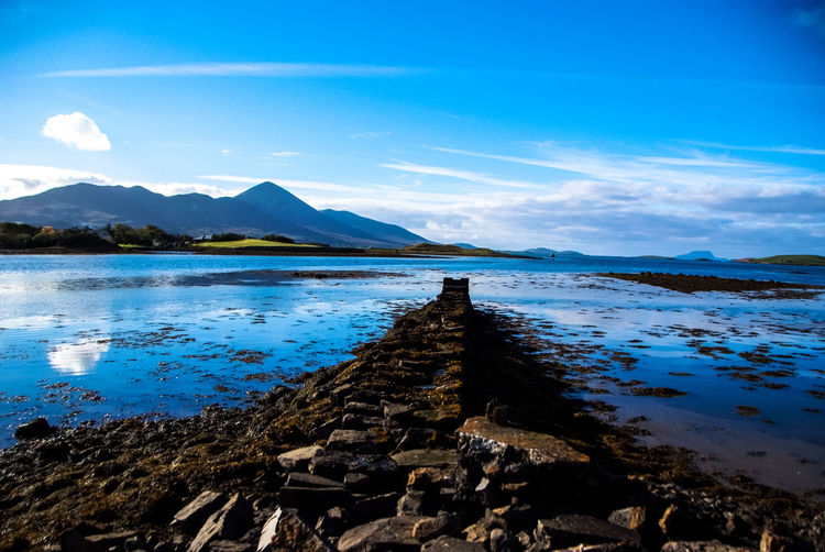 Croagh Patrick #croagh Patrick Beach Beauty In Nature Cloud - Sky Ireland Landscape Mountain Nature Reflection Scenics Water