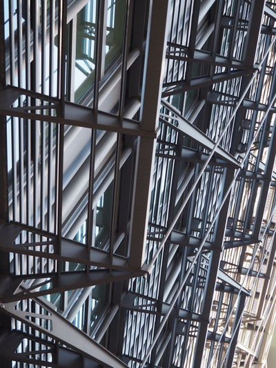 Architecture Backgrounds Built Structure Close-up Complexity Day Frankfurt Full Frame Indoors  Low Angle View Metal Metallic Modern Modern Architecture Modernism No People Repeating Patterns Repetition Steps And Staircases