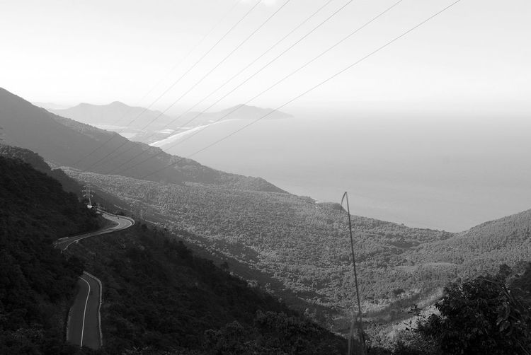Hai Van Pass, Vietnam Beauty In Nature Black And White Black And White Photography Day Driving Fog Foggy Hai Van Hai Van Pass Hairpin Turns High Angle View Landscape Mist Moped Mountain Mountain Range Nature Non-urban Scene Outdoors Remote Scenics Solitude Tranquil Scene Tranquility Vietnam