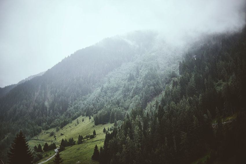 Clouds Stanton  Arlberg Alps Austria Landscape Landscape_Collection Wood Mountains Traveling Clouds