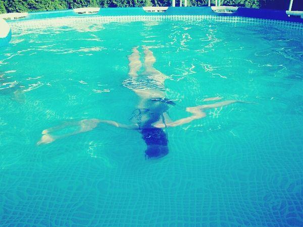 People Girl Swim Water