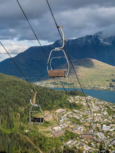 Queenstown New Zealand chair lift Stunning View New Zealand NZ Queenstown Cable Car Chair Lift Mountain Cloud - Sky Nature Land Sky Day Landscape EyeEmNewHere