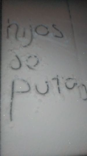 Snow Snow ❄ Snowing Snowy Snow Covered Cold Cold Days Chilly Hijos De Puta Writing