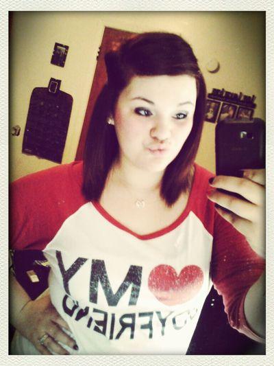 i ♡ my boyfriend shirt (: