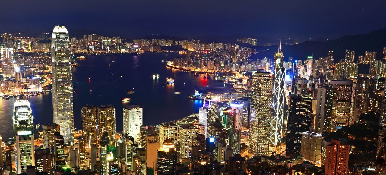 Architecture Building Exterior Building Story Built Structure City Cityscape Crowded Financial District  Hong Kong City Hong Kong Harbour Hong Kong Peak Hong Kong Skyline Hong Kong Style Night Office Building Sky Skyscraper Tall - High Travel Destinations Urban Skyline
