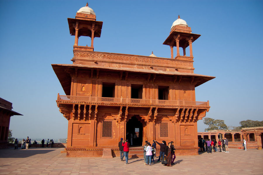 Akbar Architectural Column Architectural Feature Architecture Blue Building Exterior Built Structure Clear Sky Fatehpur Sikri History Incredible India India Tourism Memories Moghul Architecture Monument The Past Tourism Travel Destinations