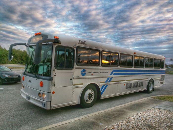NASA tour bus.