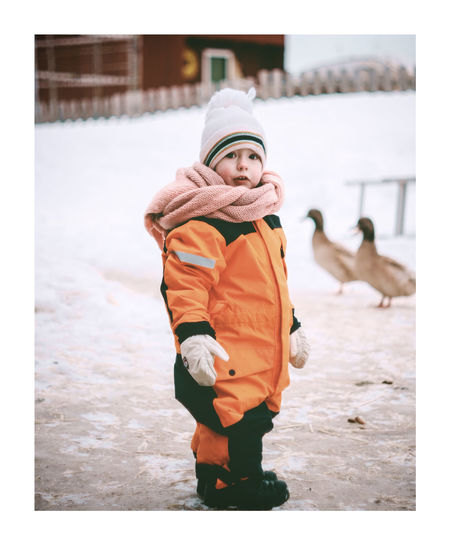 Boy in Winter farm setting EyeEm Selects Warm Clothing Child Snowing Snow Cold Temperature Females Winter Snowflake Beauty Childhood Winter Coat Ski Jacket Mitten Knit Hat Jacket Coat Glove Snowball Ski Holiday Overcoat Scarf