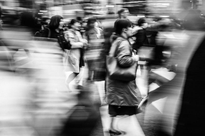 Crowd-Shibuya, Tokyo, Japan, 2017 Blackandwhite Streetphotography
