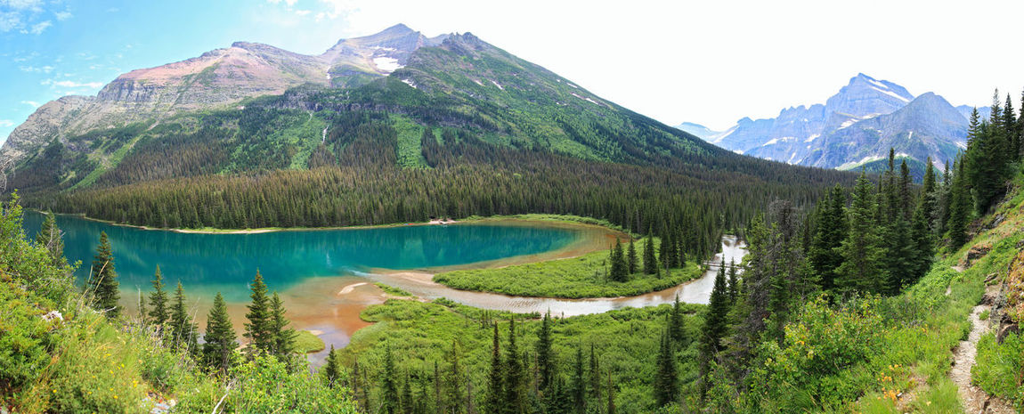 Grinnell Lake (Rocky Mountains, USA) Beauty In Nature Glacier National Park Grinnell Lake Hiking Hikingadventures Lake Montana Mountain Mountain Range Nature No People Outdoors Panorama Panoramic Landscape Panoramic Photography Rocky Mountains Scenics Tourist Attraction  Tranquil Scene Tranquility Travel Travel Destinations USA