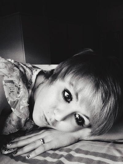 Thinking Lying Around Hoping  Daydreaming Simple Blackandwhite Relaxing Lonley Girl Depressed Teen ..