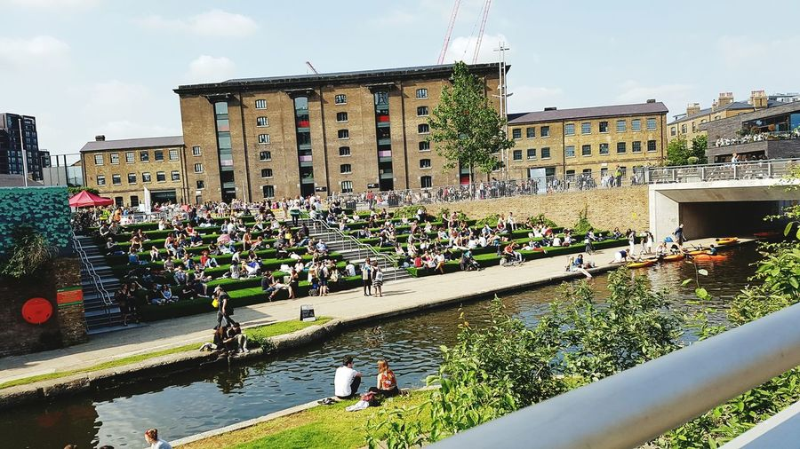 Travel Destinations Architecture Tourism Outdoors Building Exterior Water Day People Relaxing By Canal