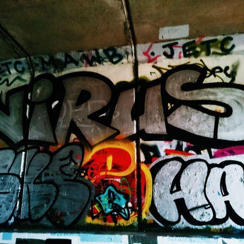 choking on your reflection Virus Streetart Graffiti Woodwalking oldtrainline saturday afternoon vscocam