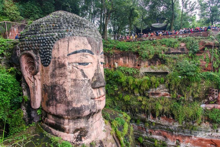 Big Buddha Leshan Giant Buddha China Sichuan UNESCO World Heritage Site Monument Sculpture
