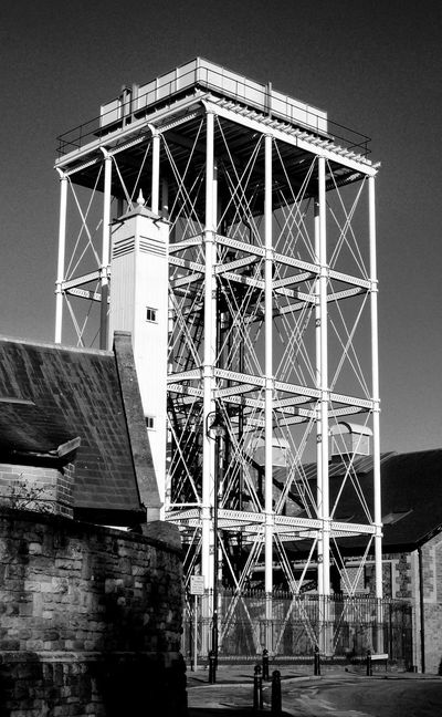 Black & White Industrial Photography Uk England Industrial Building  Water Tower GWR Ironwork  Great Western Railway