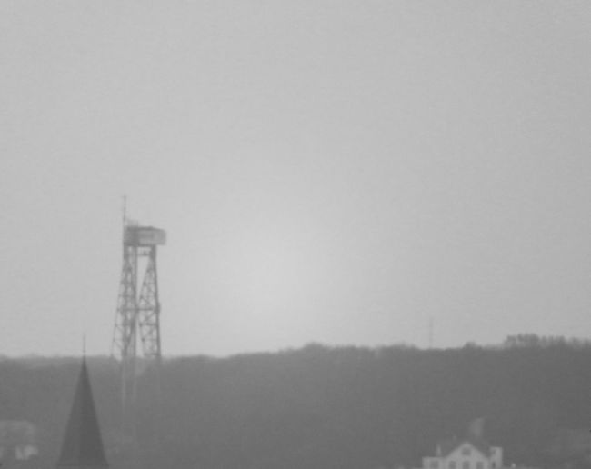 tower of aalborg in misty weather Blackandwhite Misty Aalborg Tårnet Outdoors Day No People Fog Nature Sky Stories From The City