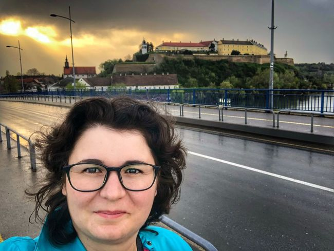 Novi Sad Petrovaradin Fortress Portrait Glasses Eyeglasses  Looking At Camera Real People Architecture Young Adult Transportation Headshot One Person Built Structure Front View Road Young Women Building Exterior Sky Lifestyles City Nature Outdoors