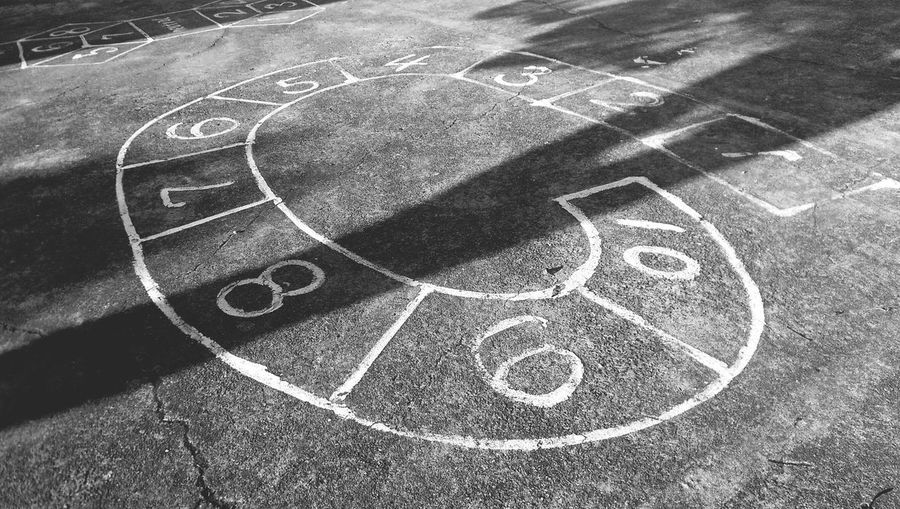 Hopscotch Game On Street