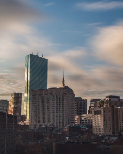 Architecture Boston Boston, Massachusetts City Cityscape New England  Reflection Sky And Clouds Architecture Building Building Exterior Built Structure City Cityscape Cloud - Sky Day Long Exposure Modern No People Outdoors Sky Skyscraper Tall Tower Urban Skyline