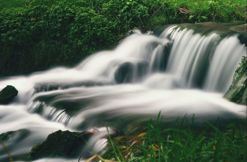 Long Exposure Waterfall Flowing Water Green Color Flowing Grass Water Close-up Nature Motion Growth Outdoors Purity Non-urban Scene Freshness Scenics Beauty In Nature EyeEm Best Shots EyeEmBestPics EyeEm Nature Lover Eye4photography  Munich, Germany Beauty In Nature Nature Landscape