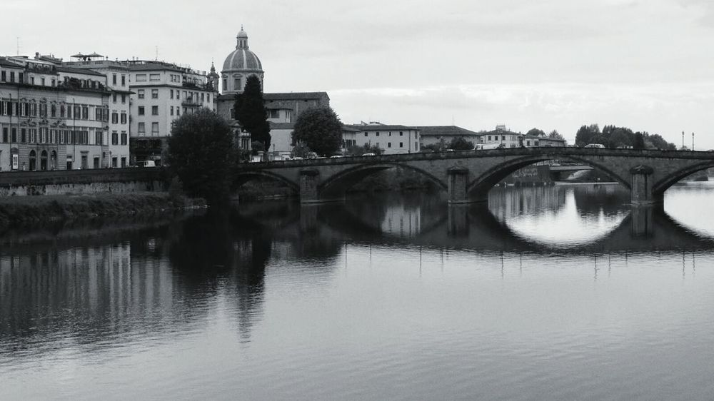 The Architect - 2015 EyeEm Awards The Traveler - 2015 EyeEm Awards Landscape_Collection Monochrome Blackandwhite Florence Cityscapes Water Reflections The Calmness Within Eye4photography  Your Ticket To Europe Firenze, Italy