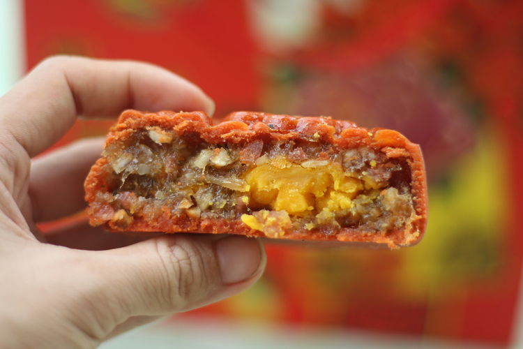 Moon Cake Time Close-up Day Focus On Foreground Food Food And Drink Freshness Holding Human Body Part Human Hand Indoors  Moon Cake Moon Cakes Moon Cakes Festiva Moon Cakes Festival One Person People Protein Bar Ready-to-eat Real People