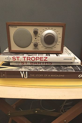 There was a radio... Tivoli Radio Assoulinebooks Assouline Books St Tropez  St Barths No Filter IPhone IPhoneography