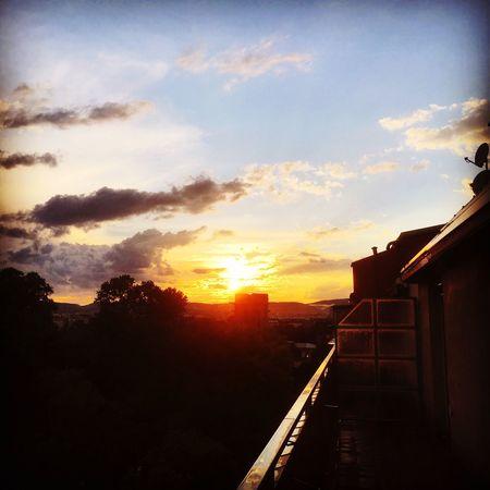 Wonderful Sundown...♥ Vienna Augarten 2017 Balkony View