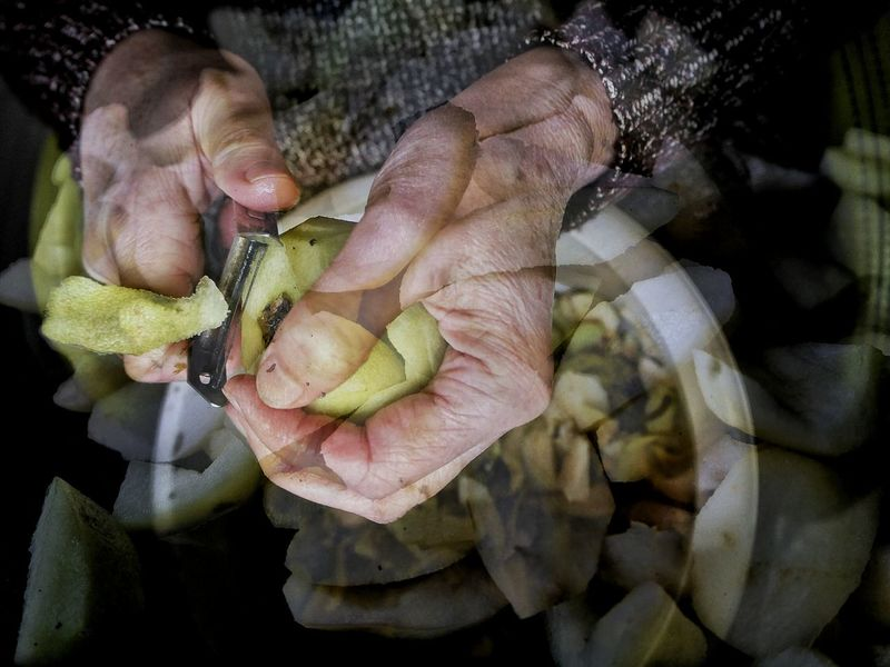 Working hands One Person One Man Only Human Body Part Close-up People Human Hand Work Labour Pear Workinghands Dubleexposure