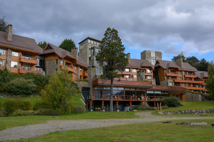 Hotel #LlaoLlao #Argentina #Bariloche Building Exterior Built Structure Architecture Building Plant House Residential District Cloud - Sky Grass Tree Sky Nature Day No People Outdoors Water Field Green Color Apartment Bariloche, Argentina Llao Llao Patagonia Argentina
