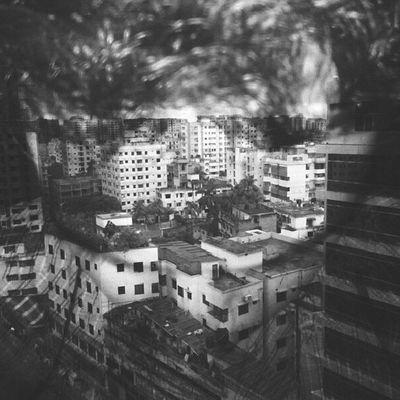 Urban Cityscape Building Black White Bnw Doubleexposure Lomo Melancholy Myself Selfi Selfportrait Jj_forum Instamood Instamania Instago Kazi Tahsin Agaz Dhaka Bangladesh