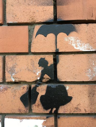 Black Building Exterior Close-up Mary Poppins Outdoors Red Wall