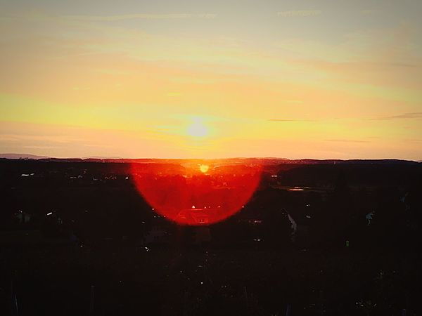 Sunset Sun Orange Color Beauty In Nature Nature Scenics Sky Tranquil Scene Silhouette Tranquility No People Outdoors Landscape Red Astronomy Day Sunset #sun #clouds #skylovers #sky #nature #beautifulinnature #naturalbeauty #photography #landscape