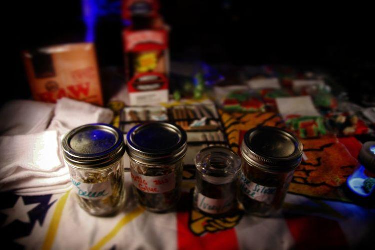 EyeEm Selects Weed Life Dabs Dablife Illuminated Celebration Washington, D. C. Wine Bottle Adult Nightclub Indoors  Close-up