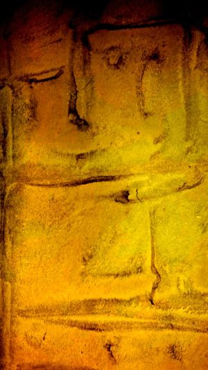 Textured Effect Painted Image Full Frame Yellow Backgrounds Textured  Abstract Pattern No People Outdoors Day Close-up Nature Metaphorical Photography Abstract Art Arts Culture And Entertainment Picasso Style Cubism
