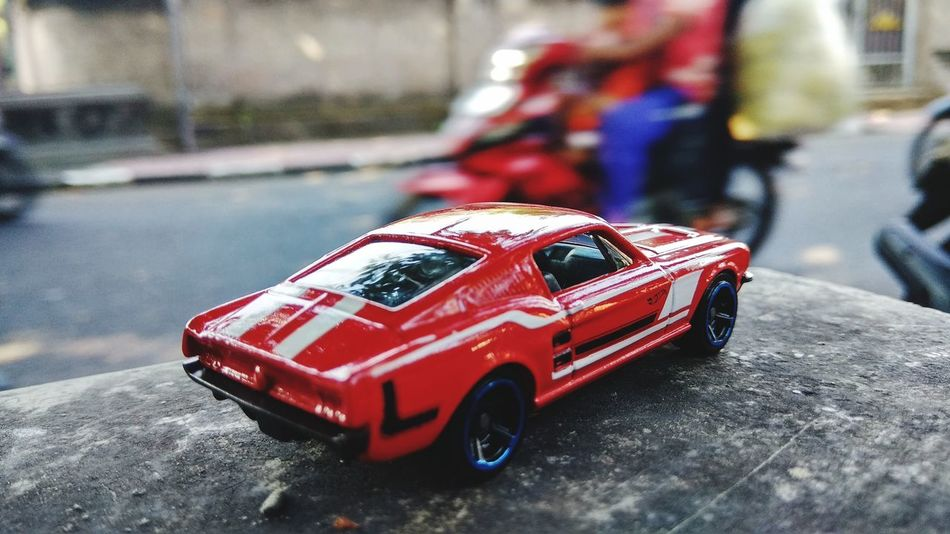 67 ford mustang Ford Denpasar Klungkung Mustang AmericanMuscleCar HotWheels Red Car Toy Car Land Vehicle Racecar Close-up