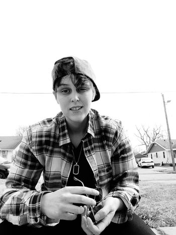Lesbian Butch Me Selfie Gay Gay Girl Lgbt Snakebites Flannel One Woman Only Only Women Adults Only Portrait One Young Woman Only Front View Adult