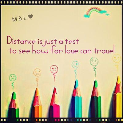 Distance Test You Me instext loveu @leduvepa