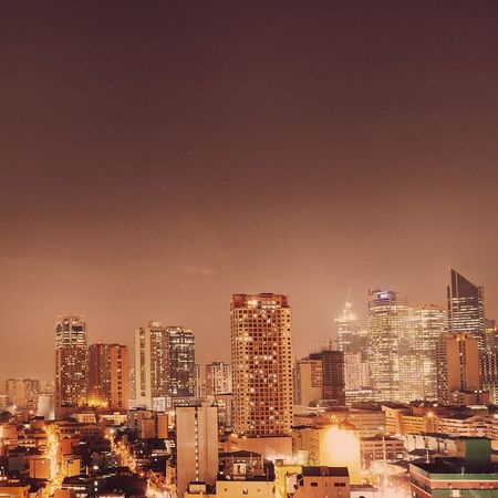 Red. Architecture Built Structure Building Exterior City Skyscraper Tall - High Urban Skyline Illuminated Tower Modern Cityscape Sky Growth Development Building Story Financial District  City Life Office Building Outdoors Red City Night Eyeem Philippines