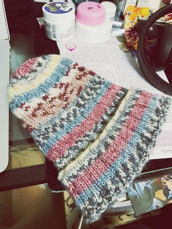 Knitting b Knit Spairal Sock Yarn Man's Knitting Knit Hat Knitting Wool Knit Cap Knitter Step6 Yarn