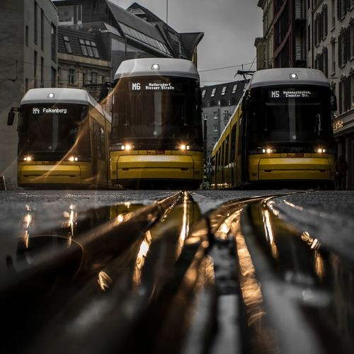 Tram Machines Berlin Streetphotography Tracks Street Cold Temperature Outdoors Architecture City Shades Of Winter Mobility In Mega Cities