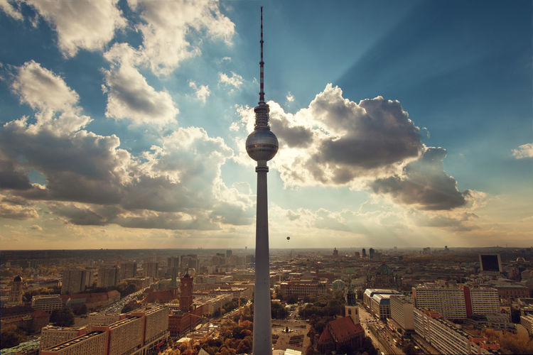 High angle view of berliner fernsehturm
