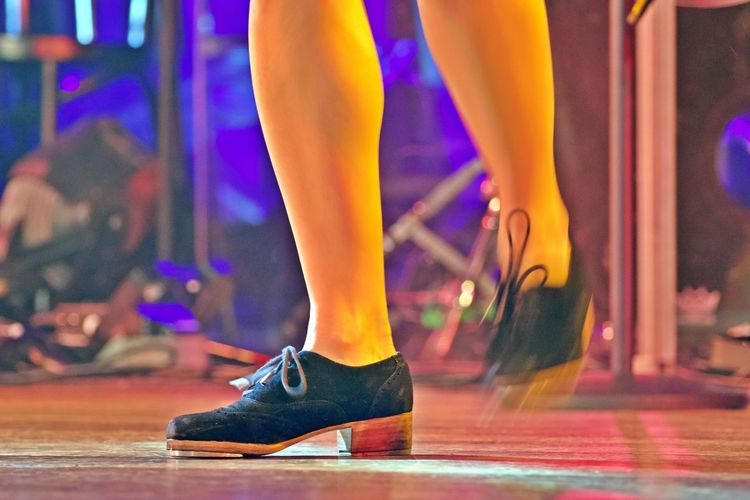 Low Section Human Leg Human Body Part Body Part Stage - Performance Space Real People Stage Dancing Performance Lifestyles Nightlife Human Foot Human Limb High Heels Indoors  Tap Dance