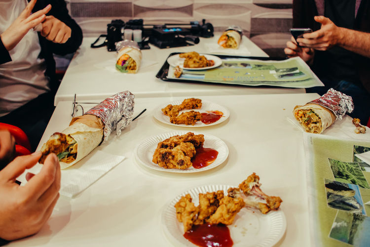 Do you like Kebab? Food And Drink Food Human Hand Real People Hand Plate Table Freshness Indoors  Ready-to-eat Unrecognizable Person Human Body Part Incidental People Holding One Person Serving Size Lifestyles Restaurant High Angle View Meal Dinner Finger