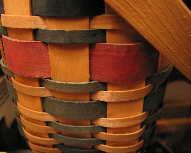 Weave Basket Basket Weave Close-up Day Detail Indoors  No People Stack Wood - Material