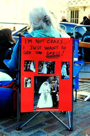 Poster Crazy Fans Royal Wedding People London Westminster Abbey Westminster Wedding Royals 2011 Waiting